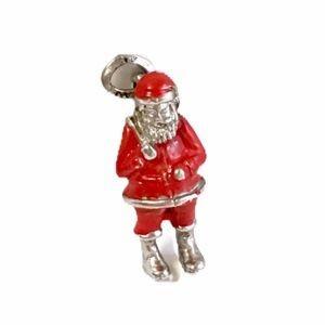 Vintage Santa Clause Christmas Charm Sterling